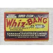 old signs Super Clean Whiz Bang Dry Lubricated Bullets Smokeless metal tin sign