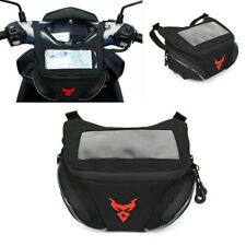 Waterproof Moped Scooter Handlebar Bag Front Storage Pouch Waist Pack Phone Case (Fits: Yamaha QT50)