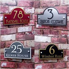 House Number Plaques & Door signs Address Name plates Personalised with fittings