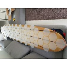 67 Hexagonal Versa Traction clear DECK grip tape for a 9ft long surf boards
