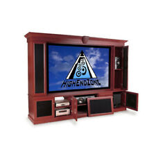 """7 Channel Surround Sound and Theater Cabinet with 106"""" Projection Screen Package"""