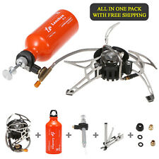 Multi Fuel 500ml Portable Camping Hiking Lightweight Folding Stove & Fuel Bottle