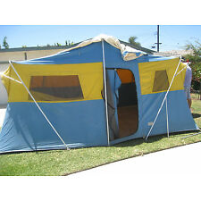 1 GIGANTIC SEARS WILLIAMS? TENT CONTINENTAL CANVAS 16'X10' PICK UP CALIFORNIA