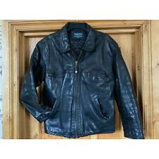 Nickelson Leather Jacket Size Large Quilted Lining Very Heavy Vintage