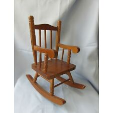 Vintage Doll Rocking Chair Wood Jenny Lind Style 1990 Heritage Mint 12 in tall