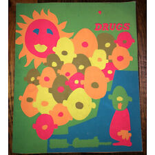 Vintage 60s/70s Black Light Psychadelic Poster 14x17 Inches