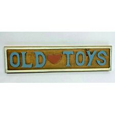 """Vintage Carved Wood """"Old Heart Toys"""" Signs ~ Plaque Hand made Signage"""