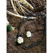 Naked and Afraid XL Show LARGE Marble Braid Bead Paracord Clasp Repro Necklace