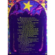 """VINTAGE BLACK LIGHT POSTER """" ODE TO A FALLEN STAR"""" new old stock 1972"""