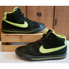 NIKE SWEET CLASSIC Black/Neon Green 367112-010 Youth Size 3 M