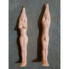 Vintage Novelty Pens Naked Man And Woman Pair Peach colors Nude Naked XXX Hot