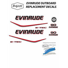 EVINRUDE E-TEC 90hp outboard replacement decals for white cowl