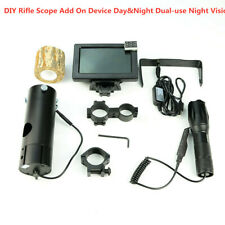 """4.3"""" LCD DIY Rifle Scope Add On Device Day&Night Dual-use Night Vision IR Torch"""