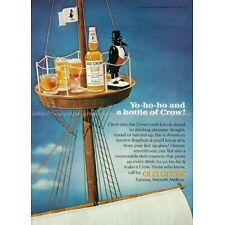 1966 Liquor Ad Playboy Old Crow Kentucky Straight Bourbon Whiskey paper poster