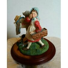 Days to Remember - Norman Rockwell Girl No Swimming Figurine 1994 Vintage NIB