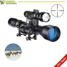 Hunting Sniper Rifle Tactical Optics Scope 3-9X40 with Laser Torch Red Pinty