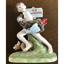 """Norman Rockwell """"No Swimming"""" Figurine 1989 Danbury Mint Collection"""