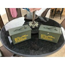 (2-PACK) 50 Cal M2A1 AMMO CAN VERY GOOD CONDITION * FREE SHIPPING *