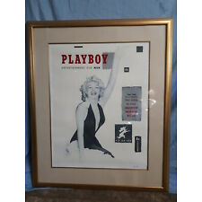 Playboy First Cover Limited Edition signed and #'d lithograph, framed