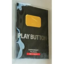 YouTube Gold Play Button golden award plaque paperweight metal Twitch